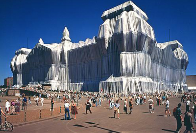 Wrapped Reichstag (1995) by Christo and Jeanne-Claude.