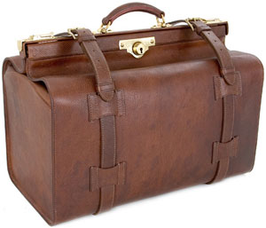 G. J. Cleverley Russinan Leather Gladstone Bag.