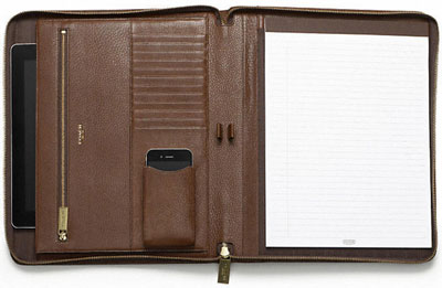 Coach Crosby Leather Zip Executive Portfolio: US$368.