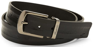 Kenneth Cole Distressed Grey-Leather Men's Belt: US$65.