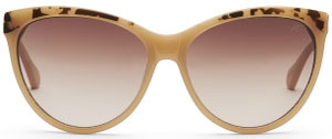 Kenneth Cole Taupe Plastic Cat-Eye Sunglasses with Gradient Brown Lenses women's sunglasses: US$98.