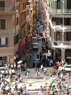 Via Condotti (officially Via dei Condotti) is a busy and fashionable street of Rome, Italy. It begins at the foot of the Spanish steps.
