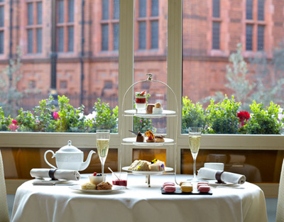 Afternoon Tea at The Connaught hotel, Carlos Place, Mayfair, London W1K 2AL, England, U.K.