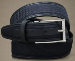 Corneliani men's leather nylon belt.
