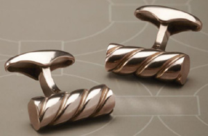 Corneliani twisted spiral cufflinks.