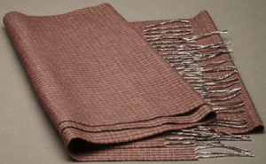 Corneliani silk and cashmere houndstooth pattern scarf.