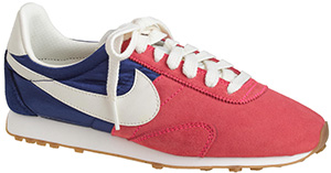 J.Crew Women's Nike vintage collection pre-Montreal racer sneakers: US$85.