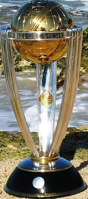ICC Cricket World Cup Trophy.