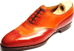 Saint Crispin's Oxford, Plain Sewn Wing Tip, Biccolore Shoe.