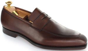 Crockett & Jones Merton Beechnut Burnished Calf loafer.