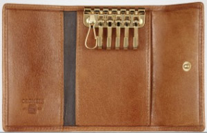 Crombie tan leather key holder: £45.