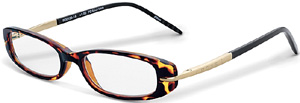 Cross Tortoiseshell frames flecked with gold undertones and polished silver-tone appointments reading glasses: US$30.