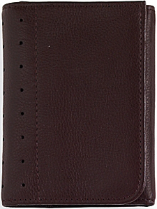 Cross Full-Grain Pebbled Brown Leather Tri-fold Wallet: US$74.