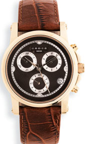 Cross Men's Chronograph Watch with rose gold finish.