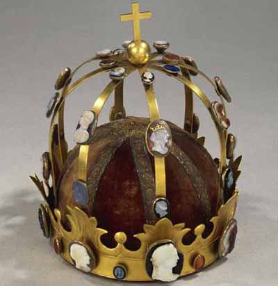 The Crown of Charlemagne, retained by the Louvre. It was commissioned by Napoleon.