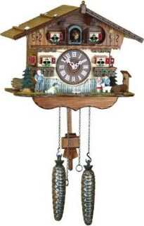Quartz Swiss cuckoo clock.