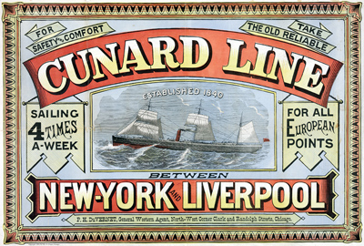 Cunard Line - founded in 1840. The most famous ocean liners in the world.