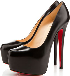 Christian Louboutin Daffodile 160 mm Kid Leather Black Stilettos.