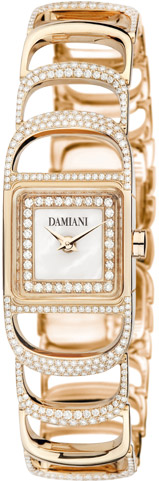 Damiani Damianissima Pink Gold Semi Setting watch.