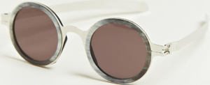 Damir Doma X Mykita men's Platinum Frame Sunglasses from SS13 collection in silver.