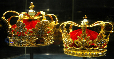 The Danish crown jewels at Rosenborg Castle.