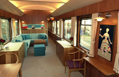 Inside Queen Margrethe II of Denmark's royal coach.