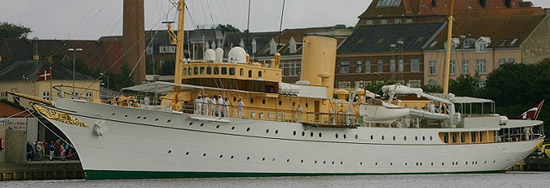 M/Y Dannebrog - the Danish royal yacht.