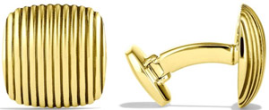 David Yurman Royal Cord Cuff Links in Gold: US$3,900.
