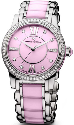David Yurman Classic 34mm Quartz, Pink Ceramic women's watch: US$7,200.
