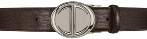 Davidoff Belt Reversible 7 with palladium icon Brown/Black men's belt.