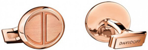 Davidoff Very Zino Icon Red Gold 5N cufflinks.