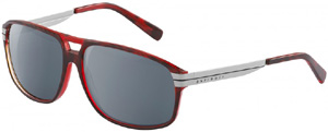 Davidoff Men's Sunglasses in brown – red acetate and grey uni colour lenses.