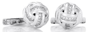 De Beers White Gold Knot Cufflinks: US$5,500.
