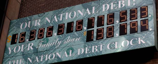 U.S. National Debt Clock.