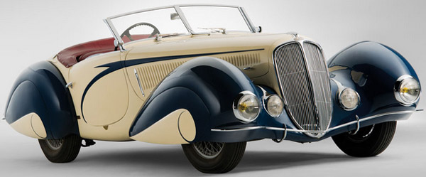 1937 Delahaye 135 Competition Court Torpedo Roadster by Figoni et Falaschi.