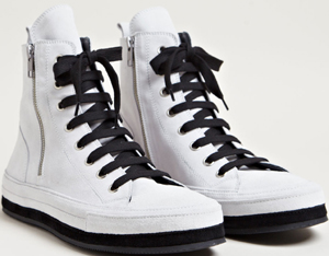 Ann Demeulemeester men's Nubuck Hi-top Sneakers from SS13 collection in black: £531.