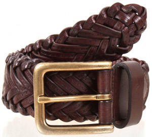 Dents Plaited Leather Belt men's belt: £24.