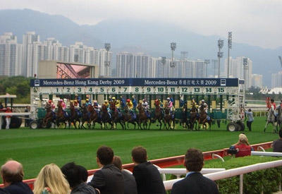 The start of the 2009 Hong Kong Derby.