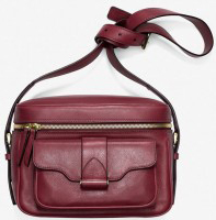 Derek Lam Red Newton Leather Camera Bag: US$1,390.