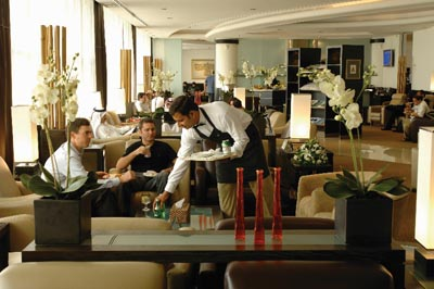 The Dilmun Lounge at Bahrain International Airport.