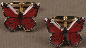 Dolce&Gabbana Enameled Butterfly on Gold Cufflinks: US$510.