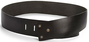 Donna Karan Leather Hook-Buckle Belt: US$850.
