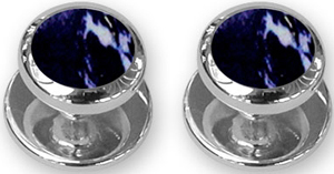 Douglas Pell sterling silver lapis shirt studs: £64.