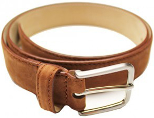 Drake's London Nubuck Leather Belt: £125.