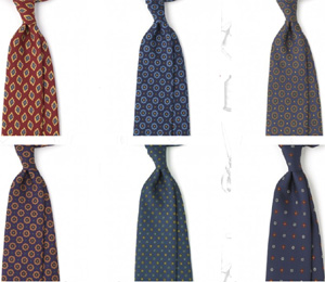 Drake's London Tie Selection.