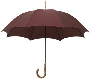Drake's London Hazel Handle Umbrella: £145.