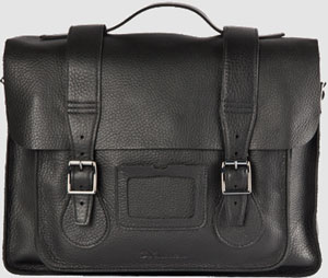 Dr. Martens 15-inch leather satchel: US$200.