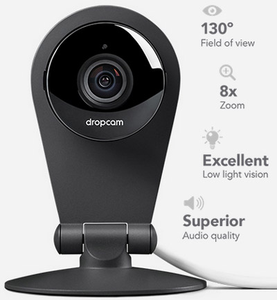 Dropcam Wi-Fi Wireless Video Monitoring Camera, Works with Amazon Alexa: US$185.