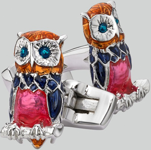 Duchamp London Owl Cufflinks: £75.