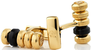 Dunhill modular gold plate and black onyx cufflinks: US$370.